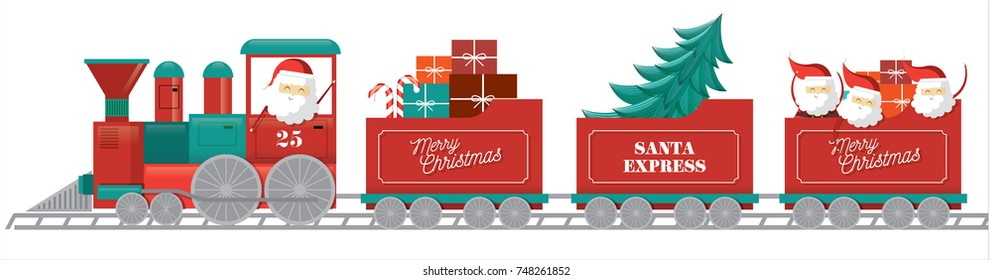 christmas train vector/illustration