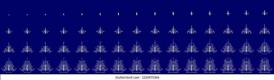 Christmas Tree animation sprite sheet, Can be used for GIF animation