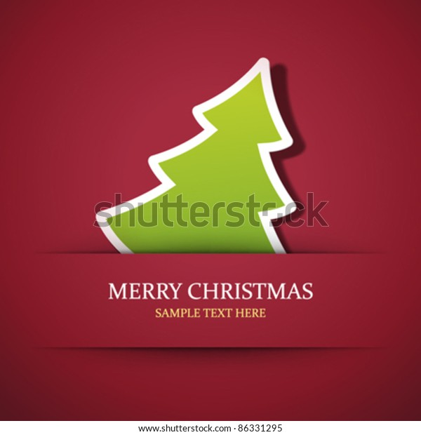 Christmas tree applique vector background. Eps 10.
