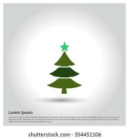 Christmas tree background, Creative Christmas tree Card, Abstract Christmas Tree