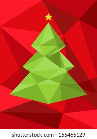 Christmas tree background. Vector illustration. Merry Christmas