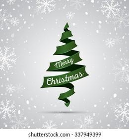 Christmas tree background. Vector illustration