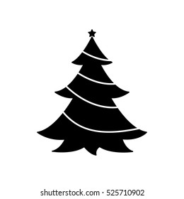 christmas tree silhouette images stock