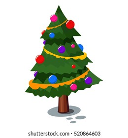 christmas tree cartoon images stock photos vectors shutterstock rh shutterstock com Christmas Tree Outline Christmas Tree Drawing