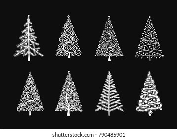 Christmas tree, collection for your design