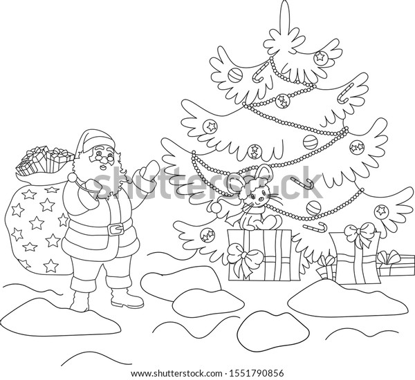 Christmas Ornaments Colouring Pages On White Background Royalty ... | 550x600