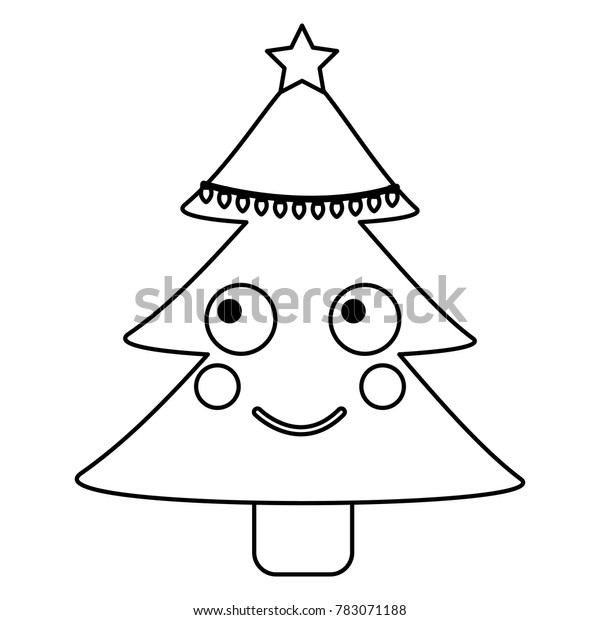 Christmas Tree Emoji.Christmas Tree Emoji Icon Image Stock Vector Royalty Free