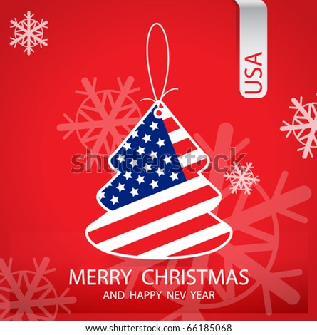 christmas tree with the flag of the united states - Christmas In The United States