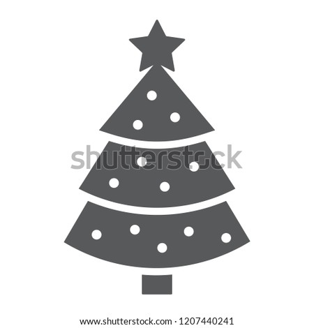 Christmas tree glyph icon, xmas and decoration, fir-tree sign, vector  graphics - Christmas Tree Glyph Icon Xmas Decoration Stock Vector (Royalty Free