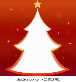christmas tree greeting card illustration
