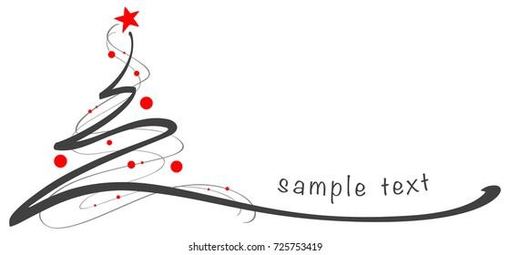 Christmas tree / Hand drawn