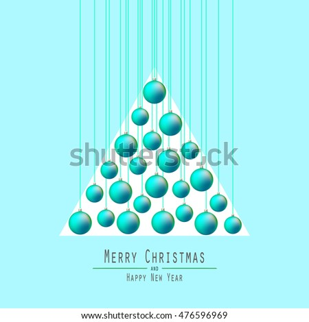 christmas tree handing christmas balls orange balls merry christmas and happy new year