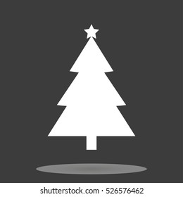 Christmas tree icon and New Year, stylish vector illustration, EPS10