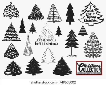 Scandi Christmas Tree Drawing.Imagenes Fotos De Stock Y Vectores Sobre Outline