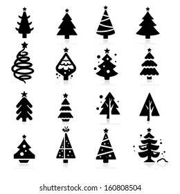 Christmas tree icons