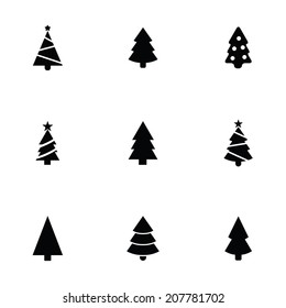 Christmas Tree Images Black And White.Christmas Tree Silhouette Images Stock Photos Vectors