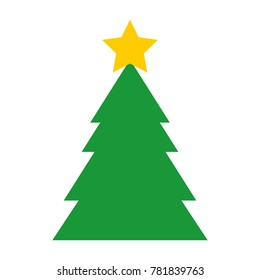 christmas tree isolated icon