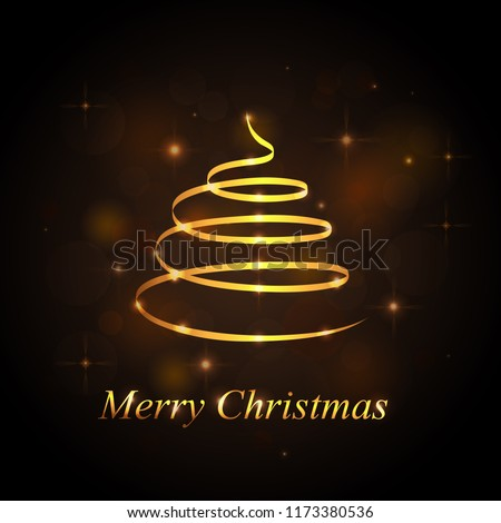 Christmas tree isolated on black background stock vector royalty christmas tree isolated on black background xmas golden tree backdrop for email greeting card m4hsunfo