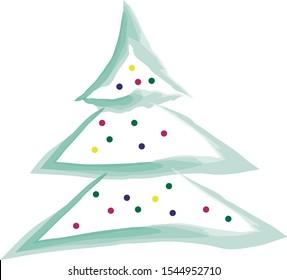 Christmas tree with lights. Christmas tree with tip lights