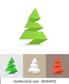 Christmas tree origami set