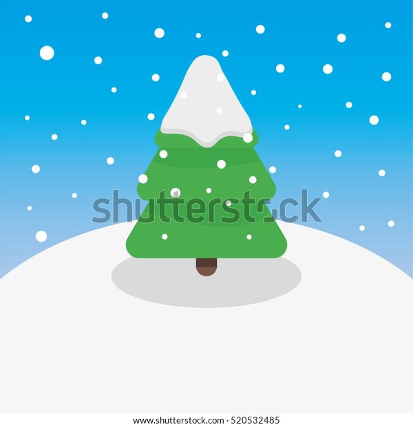 Christmas Tree Outside Snow Vector Illustration Stock Vector Royalty Free 520532485 Free for commercial use no attribution required high quality images. shutterstock