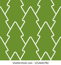 Christmas tree pattern vector seamless, green