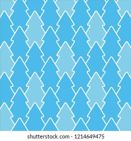 Christmas tree pattern vector seamless, blue