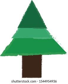 Christmas tree. Christmas pine. Conifera tree drawing