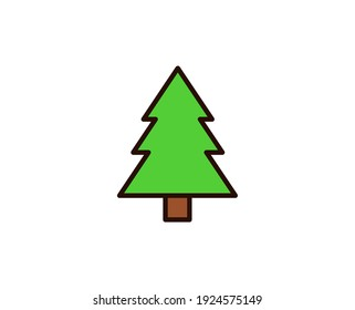 Christmas tree premium line icon. Simple high quality pictogram. Modern outline style icons. Stroke vector illustration on a white background.