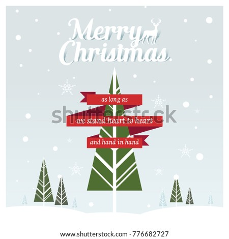 christmas tree with ribbon quotes