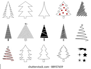 Christmas tree set.