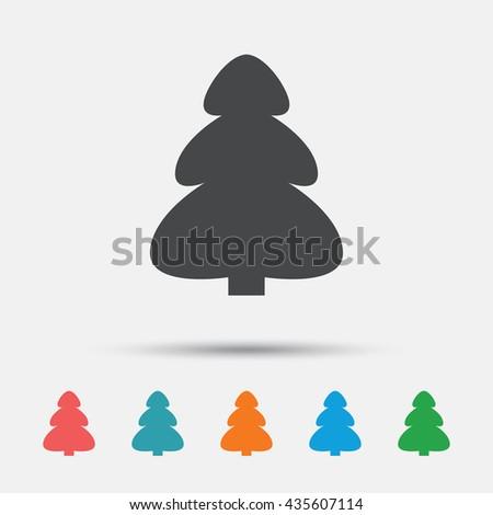 Christmas Holidays Icon.Christmas Tree Sign Icon Holidays Button Stock Vector