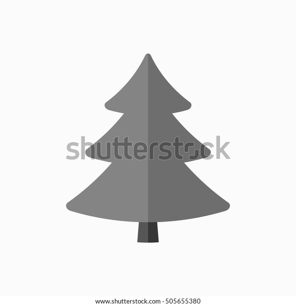 Christmas Tree Sign Simple Cartoon Icon Stock Vector