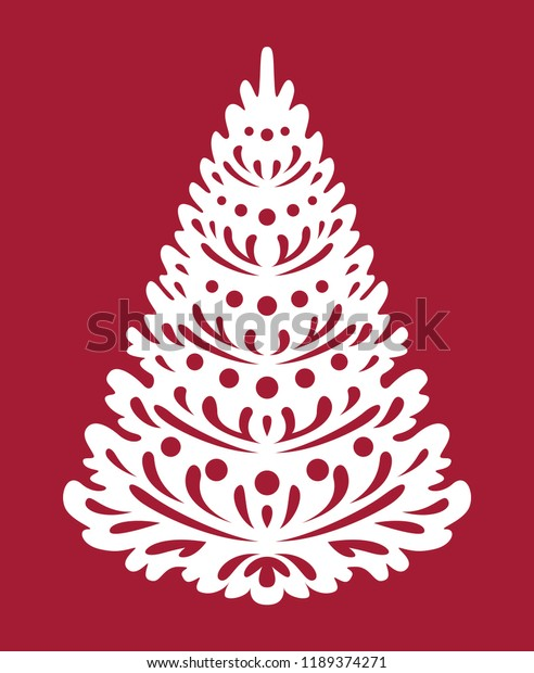 Free Wooden Christmas Tree Patterns.Christmas Tree Templates Laser Cutting Plotter Stock Vector