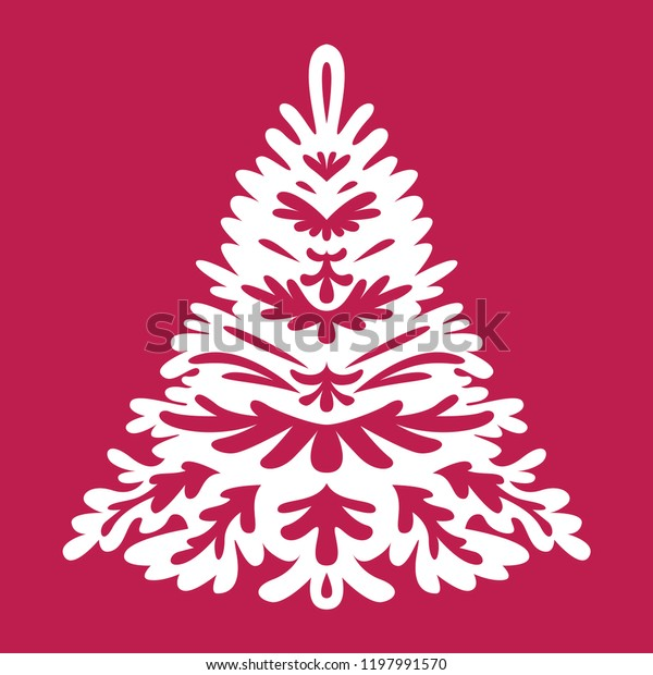 Christmas Tree Templates Laser Cutting Plotter Stock Vector Royalty