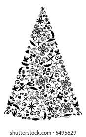 Christmas Tree vector.