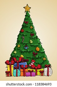 Christmas Tree Art.Christmas Tree Cartoon Images Stock Photos Vectors