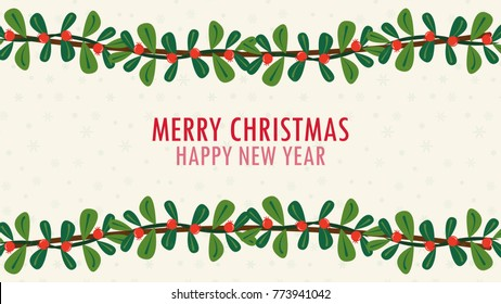Christmas tree vector. free space for text. Christmas wallpaper.