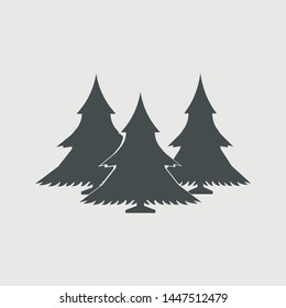 Christmas tree vector icon illustration sign