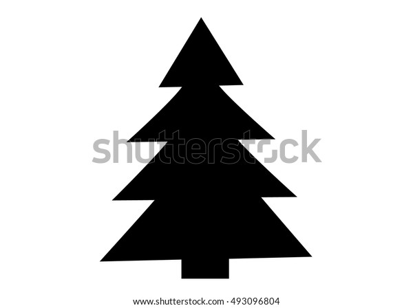 Christmas Tree Vector Icon Set Silhouette Stock Vector Royalty Free