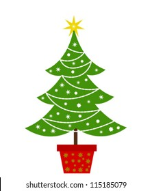 Christmas tree. Vector illustration
