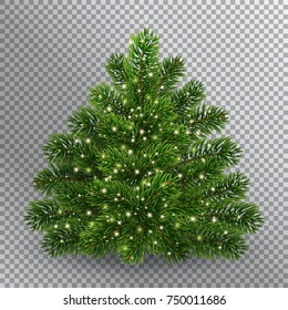 Christmas Tree From Lights Transparent Images Stock Photos