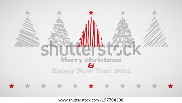 Christmas trees background with stars