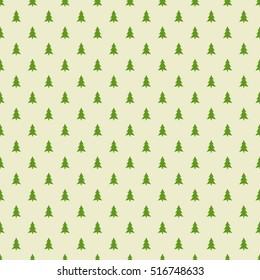 Christmas trees pattern. Vector illustration