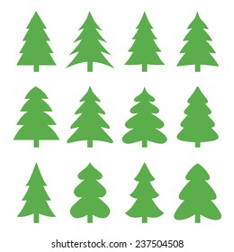 Christmas trees. Vector illustration.