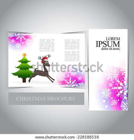 christmas trifold brochure template stock vector royalty free