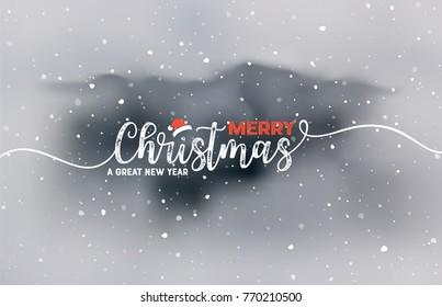 Christmas Typography Card