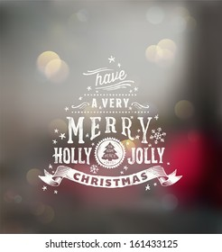 Christmas typography, handwriting