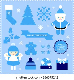 Christmas vector icons illustrations