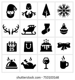 Christmas Vector Icons Set